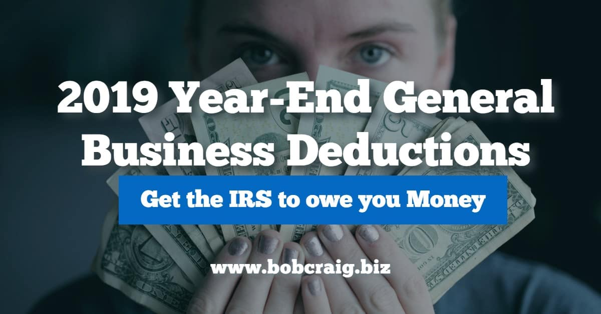2019 Year-End General Business Deductions